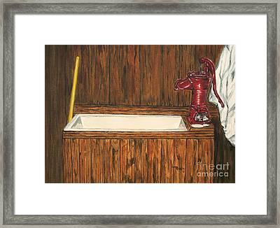Farm Sink Framed Print by Regan J Smith