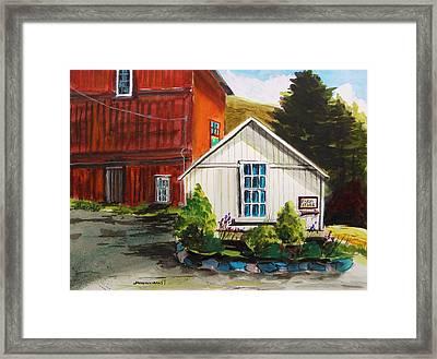 Farm Store Framed Print by John Williams