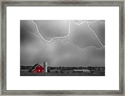 Farm Storm Hdr Bwsc Framed Print by James BO  Insogna