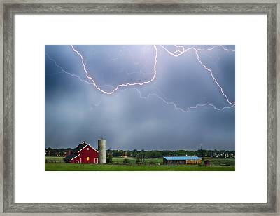 Farm Storm Hdr Framed Print by James BO  Insogna