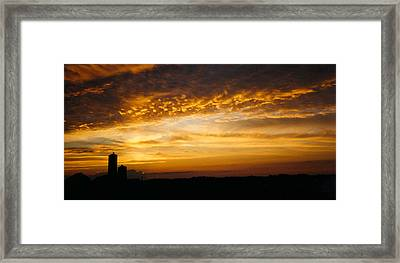Framed Print featuring the photograph Farm Sunset by Peg Toliver