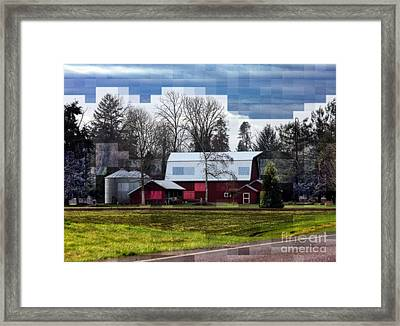 Farm Tapestry Framed Print by Erica Hanel