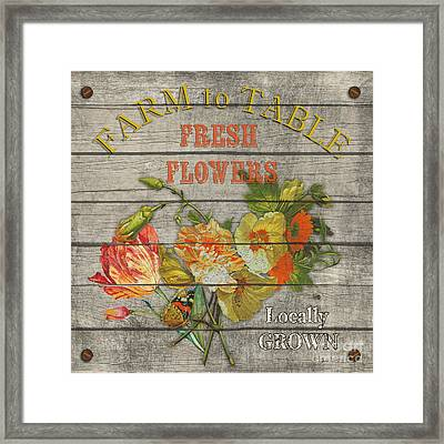 Farm To Table Flowers-jp2633 Framed Print by Jean Plout