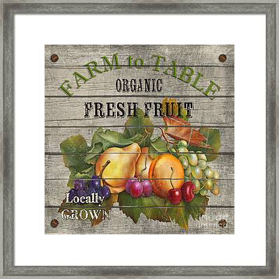 Farm To Table Fruit-jp2631 Framed Print by Jean Plout