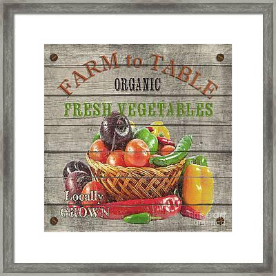 Farm To Table Vegetables-jp2632 Framed Print