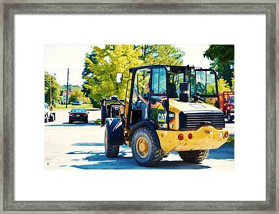 Farm Tractor 2 Framed Print by Lanjee Chee