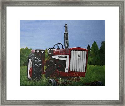 Farm Tractor Framed Print by Betty-Anne McDonald