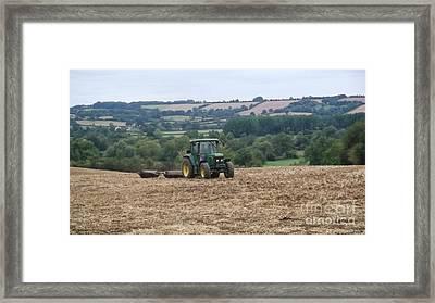 Farm Tractor Framed Print by John Williams