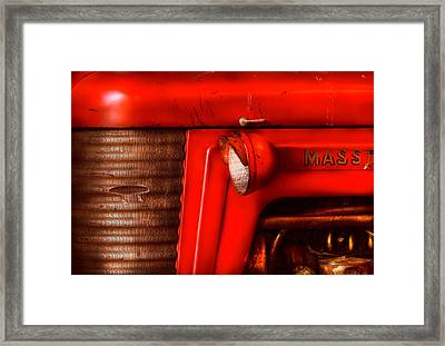 Farm - Tractor - The Tractor Framed Print by Mike Savad