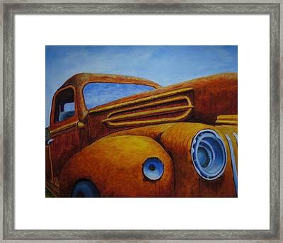 Farm Truck Framed Print