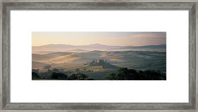 Farm Tuscany Italy Framed Print