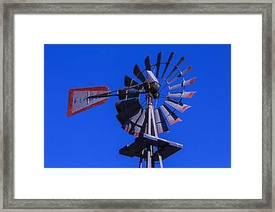 Farm Windmill Framed Print by Garry Gay