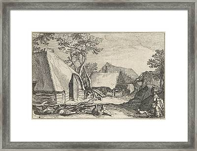 Farm With Land And Derelict Barn Framed Print