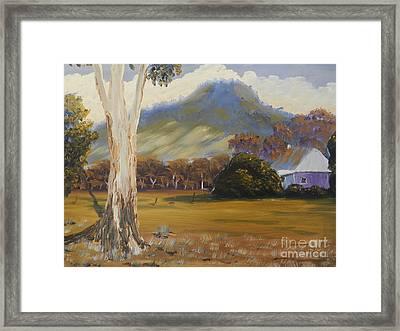Farm With Large Gum Tree Framed Print