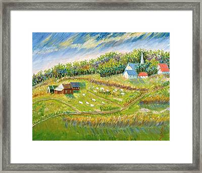 Farm With Sheep Framed Print by Patricia Eyre