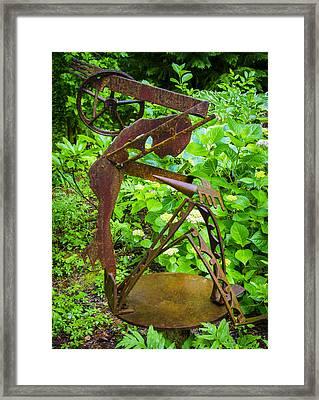 Farm Worker Framed Print by Carolyn Marshall