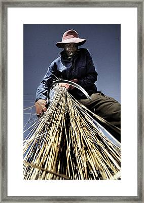 Farm Worker With Sickle Framed Print