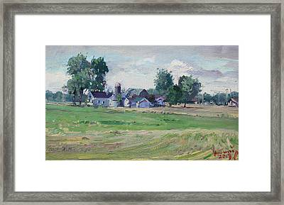 Farm Framed Print by Ylli Haruni