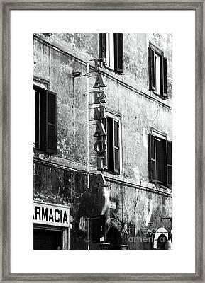 Farmacia Framed Print by John Rizzuto