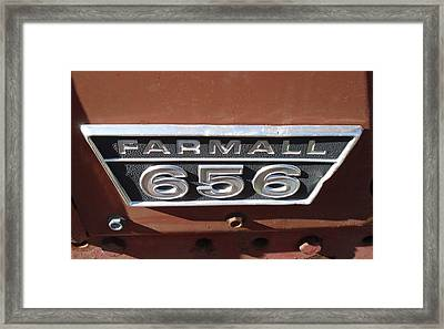 Framed Print featuring the photograph Farmall 656 by J L Zarek