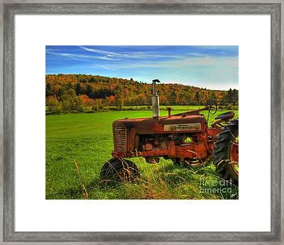 Farmall Framed Print by Alana Ranney