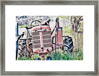 Farmall - Antique - Recycling Framed Print by Crystal Harman