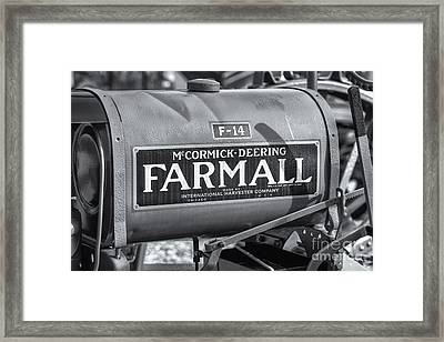 Farmall F-14 Tractor II Framed Print by Clarence Holmes
