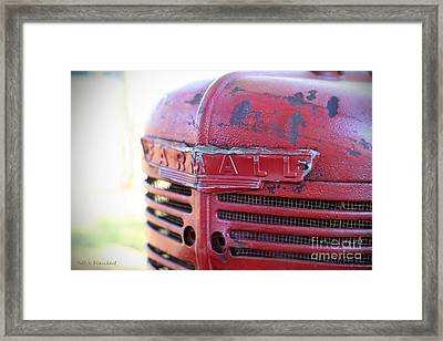 Framed Print featuring the photograph Farmall by Todd Blanchard
