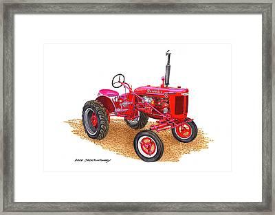 Farmall Tractor 1946 Model A Framed Print