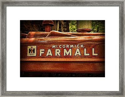 Farmall Tractor Framed Print by Kenny Francis