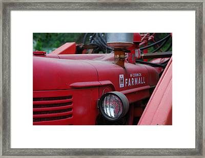 Farmall Tractor Framed Print by Ron Roberts
