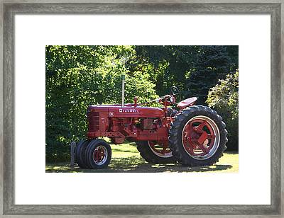Farmall's End Of Day Framed Print