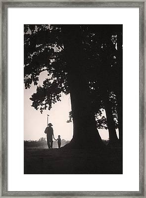 Farmer & Son Framed Print
