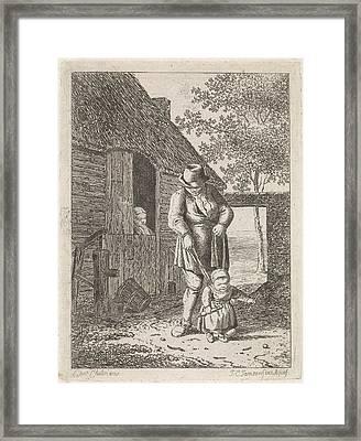 Farmer, Johannes Christiaan Janson Framed Print by Johannes Christiaan Janson