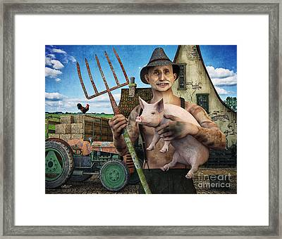 Farmer Looking For A Wife Framed Print
