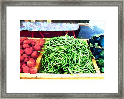 Farmer Salad Bar Framed Print