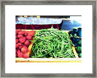 Farmer Salad Bar Framed Print by Elaine Plesser