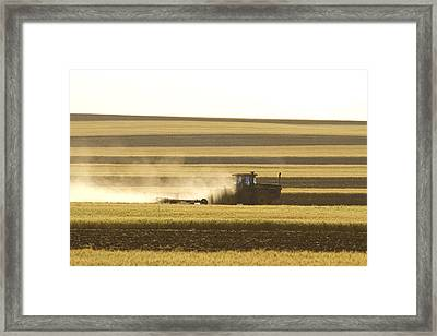 Farmer Working Framed Print by James BO  Insogna