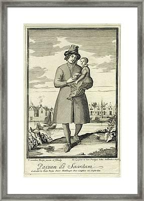 Farmer Zaandam, The Netherlands, Pieter Van Den Berge Framed Print by Pieter Van Den Berge
