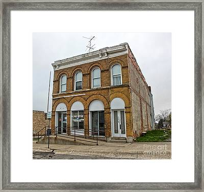 Farmers Bank - Malcolm Iowa Framed Print by Gregory Dyer