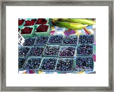 Farmers Berries Framed Print