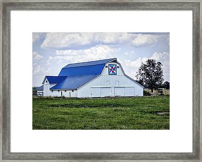 Farmers Daughter Quilt Barn Framed Print