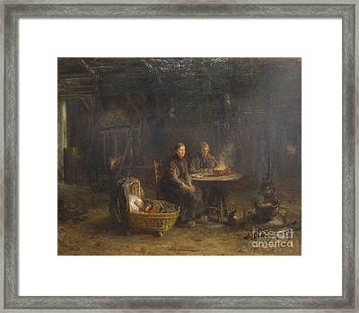 Farmers Diner In Delden Framed Print by Celestial Images