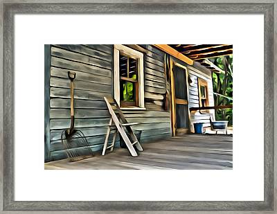 Farmers Front Porch Framed Print by Patrick M Lynch