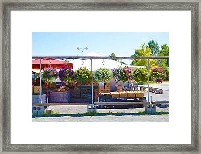 Farmers Market 2 Framed Print by Lanjee Chee