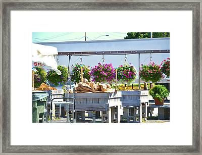 Farmers Market 3 Framed Print by Lanjee Chee