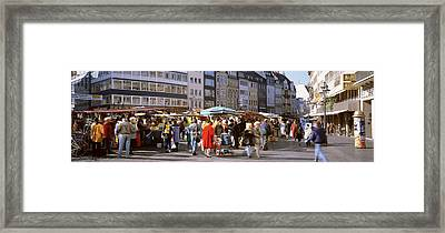 Farmers Market, Bonn, Germany Framed Print