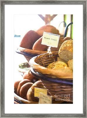Farmer's Market Fresh Bread Framed Print