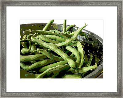 Farmers Market Green Beans Framed Print