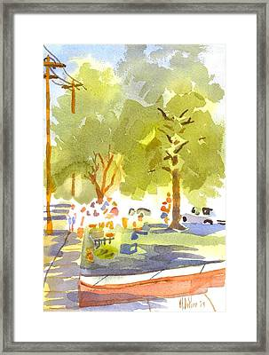 Farmers Market IIi Framed Print by Kip DeVore